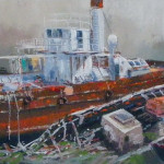 L'Averse, bateau citerne à vapeur