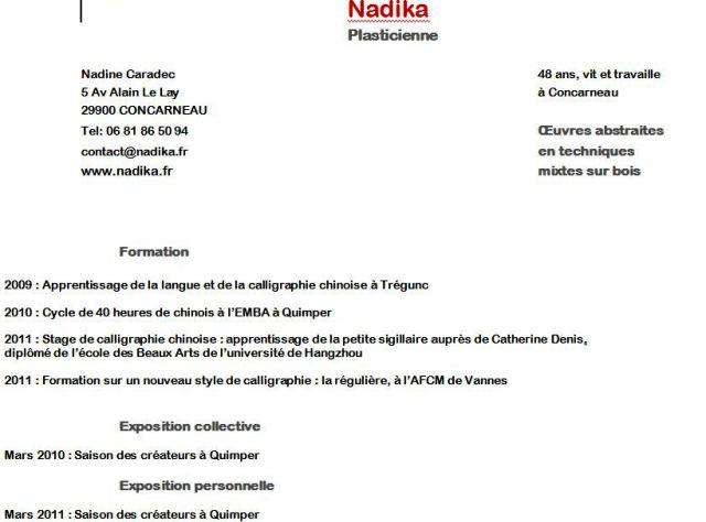 Parcours de Nadika dans NADIKA de son vrai nom Nadine CARADEC Capt_120201_130627_001