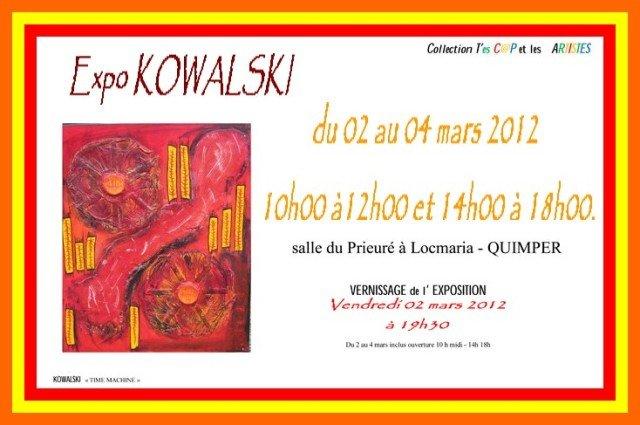 à QUIMPER Kowalski expose du 2 au 4 mars 2012 dans ACTUALITE DES ARTISTES Kowalski-du-2-au-4-mars-2012