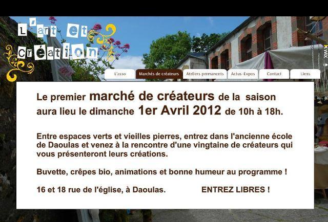 à Daoulas premier de la saison des marchés de créateurs de L'art et création, le dimanche 1er avril 2012 dans ACTUALITE DES ARTISTES Capt_120317_112342_001
