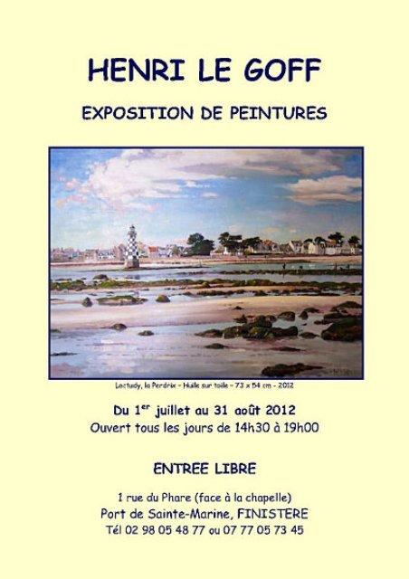 à Sainte Marine - Exposition des peintures de Henri LE GOFF - du 1er juillet au 31 août 2012 dans ACTUALITE DES ARTISTES Henri-Le-Goff-affiche-exposition-2012-bis