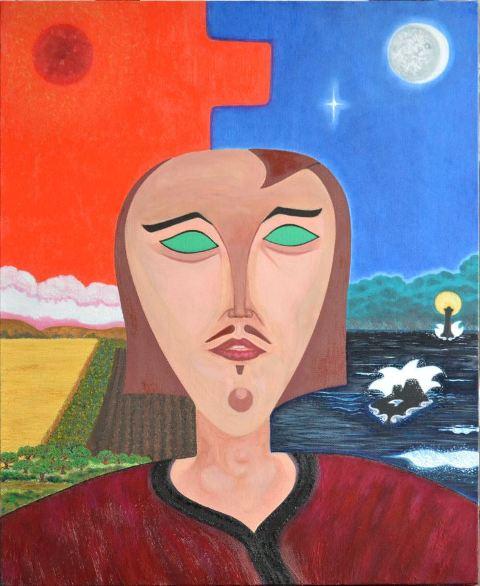 à SCAËR - Exposition des toiles colorées de Penn-Kalet - du 1er juillet au 31 août 2012 dans ACTUALITE DES ARTISTES auto-portrait-Penn-Kalet