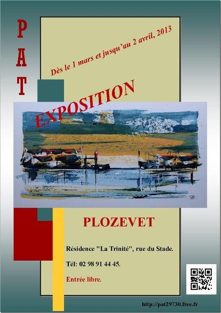 à PLOZEVET PAT Expose ses toiles du 1er au 30 avril 2013 dans ACTUALITE DES ARTISTES attachment