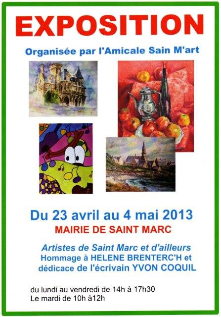 à Brest du 23 avril au 4 mai 2013 - Mairie de Saint-Marc - Exposition de Peinture dans ACTUALITE DES ARTISTES 295866_562965557059281_1806807401_n