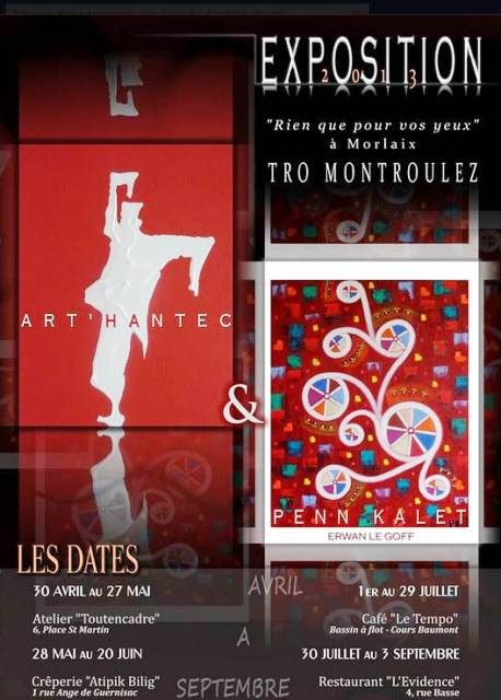 à Morlaix - Exposition itinérante - Art'Hantec et Penn-Kalet - du 30 avril au 3 septembre 2013 dans ACTUALITE DES ARTISTES capt__h074338_001