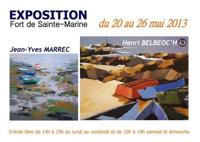 à Sainte-Marine - Exposition Jean-Yves MARREC et Henri BELBEOC'H du 20 au 26 mai 2013 dans ACTUALITE DES ARTISTES 262425_606912032661355_351867762_n