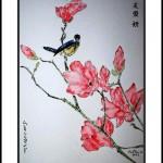 Bertrand peintre de Sumi-é et peinture Tchan