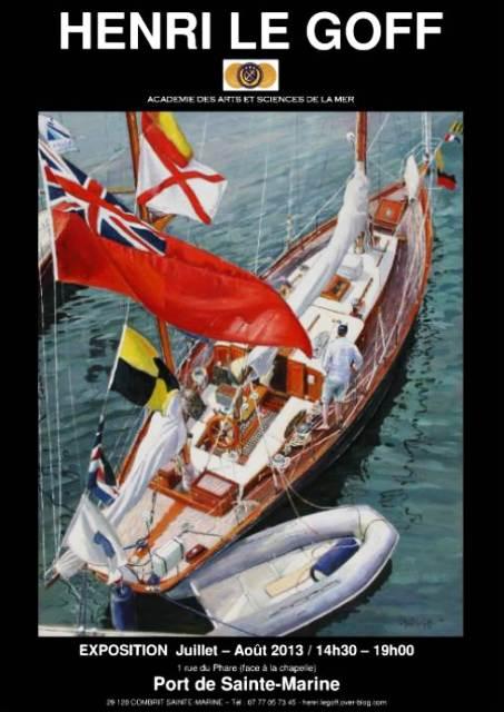 A Combrit - Port de Sainte Marine - Henri Le Goff expose ses peintures tout juillet et août 2013 dans AGENDA capture01