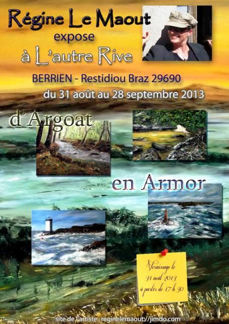 à BERRIEN - Régine Le Maout exposes ses toiles - du 31 Août au 28 septembre 2013 dans CAFE 970295_1404820486398584_881653565_n
