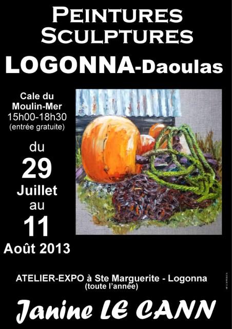 A LOGONNA-DAOULAS - Exposition des Peintures et Sculptures de Janine LE CANN du 29 juillet au 11 août 2013 dans AGENDA affiche-2013-copier