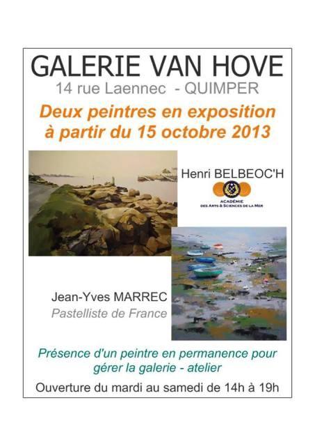 Jean-Yves MARREC et Henri BELBEOC'H exposent en permanence à Quimper dans la galerie VAN HOVE dans ACTUALITE DES ARTISTES 1373440_755746434451182_1935361320_n