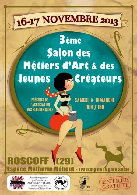 à ROSCOFF - 3ème Salon des métiers d'Arts et des jeunes créateurs les 16 et 17 novembre 2013  dans AGENDA 1375827_545724122172831_1071380594_n