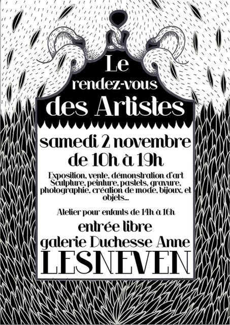 à Lesneven - Rendez-vous des Artistes - samedi 2 Novembre 2013 dans AGENDA 1384022_582014398514937_385545712_n