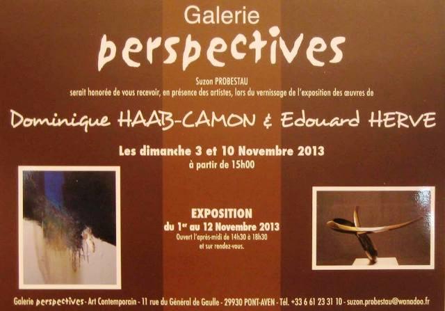 à PONT-AVEN - Exposition Dominique HAAB-CAMON et Edouard HERVE - du 1er au 12 novembre 2013 dans AGENDA 1395833_10202201205542386_1328338707_n1