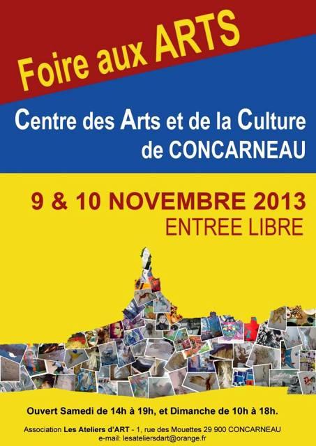 à Concarneau - Foire aux Arts - les 9 et 10 novembre 2013 dans AGENDA 1463648_180190072182763_366790986_n1