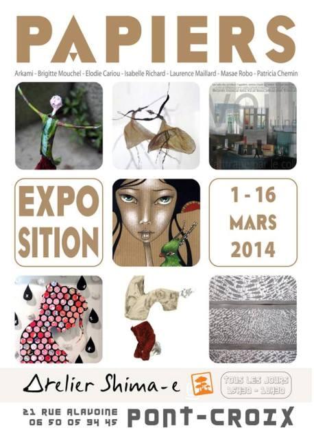 Vernissager 1er mars à 17hoo atelier Shima e