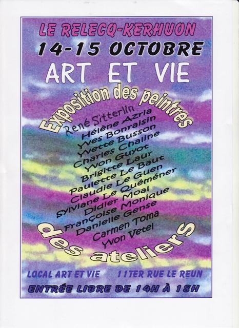 affiche art et vie 001