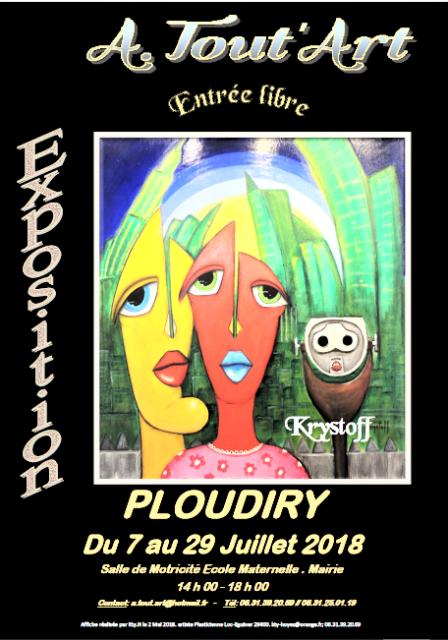 Photo Affiche pour réseaux et journaux expo juillet 2018 Krystoff Ploudiry